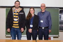 88 - GOR Poster Award 2019 Winner: Dr. Jan Karem Höhne (University of Mannheim, Germany), left, and Stephan Schlosser (University Göttingen, Germany), right, with Jury Member Tanja Burgard (ZPID - Leibniz Institute for Psychology Information, Germany)