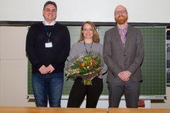91 - DGOF Best Paper Award 2019: Marcus Schatilow (IFAK, Germany), winner Diana Steger (Universität Ulm, Germany), Prof. Dr. Florian Keusch (DGOF Board, GOR 19 Programme Chair & University of Mannheim, Germany)