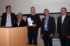 82 - Heiko Lorenzen (DeutschlandCard, Germany), Dr. Anke Müller-Peters (marktforschung.de, Germany) and GOR Best Practice Award 2019 Winners: Prof. Dr. Holger Lütters (HTW Berlin, Germany),  Marc Egger (Insius, Germany) and André Lang (Insius, Germany)