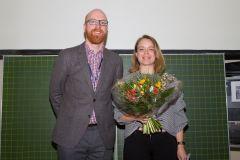 92 - Prof. Dr. Florian Keusch  (DGOF Board, GOR 19 Programme Chair & University of Mannheim, Germany) and DGOF Best Paper Award 2019 Winner Diana Steger (Universität Ulm, Germany)