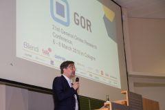 34 - GOR 19 Opening Ceremony: Dr. Otto Hellwig (DGOF Board & respondi, Germany)