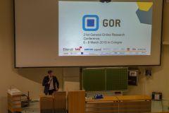 38 - GOR 19 Opening Ceremony:  Dr. Otto Hellwig (DGOF Board & respondi, Germany)