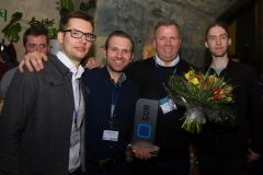 72 - GOR Best Practice Award 2019 Winners - second row, left: Mark Wolff (GapFish, Germany); front row: Dmitrij Feller (pangea labs, Germany), Tarik Hennings (TU Berlin, Germany), Prof. Dr. Holger Lütters (HTW Berlin; Germany) and Emil von Bargen (Pangea Labs, Germany)